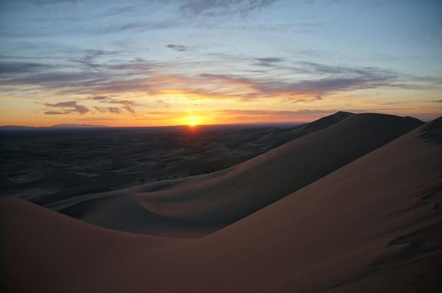 dune coucher de soleil