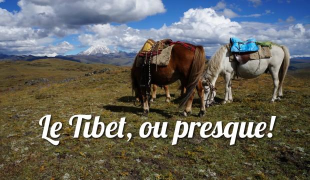 A cheval dans les plaines tibétaines
