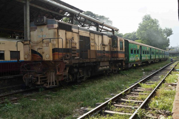train Yangon